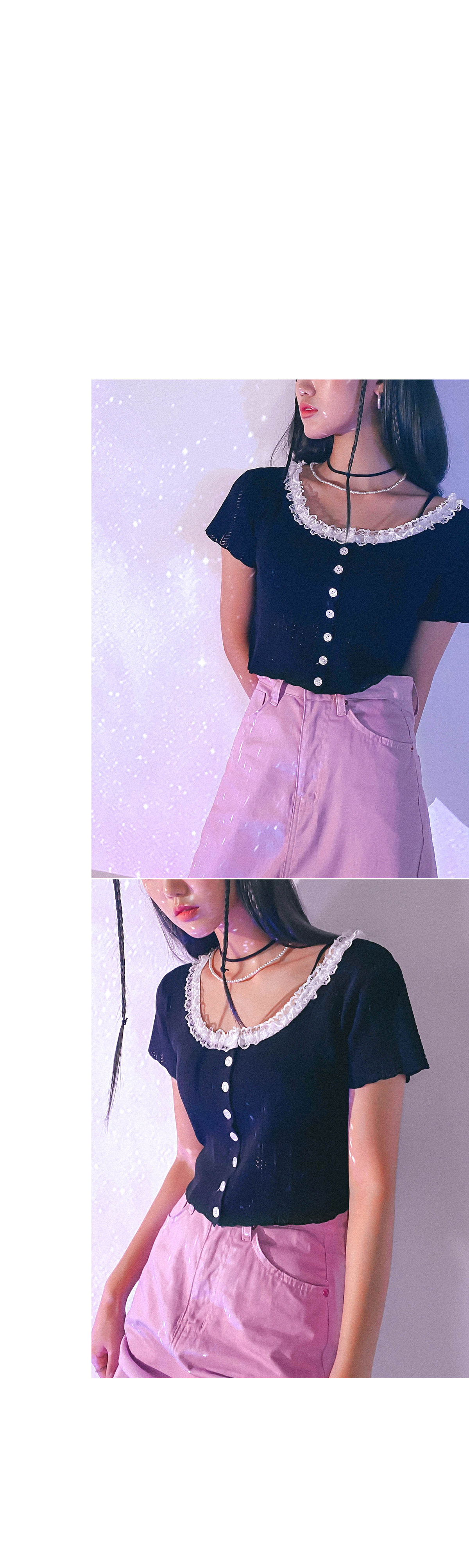 Lace Molly Crop Knit