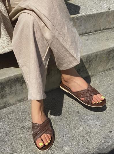 韓國空運 - Dory cross shoes 涼鞋