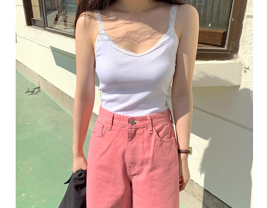 Lace color camisole