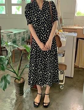 Daisy Flower Cara Long Dress