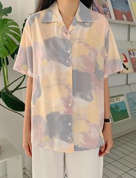 Watercolor shirt blouse
