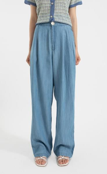 Danish one-button straight jeans