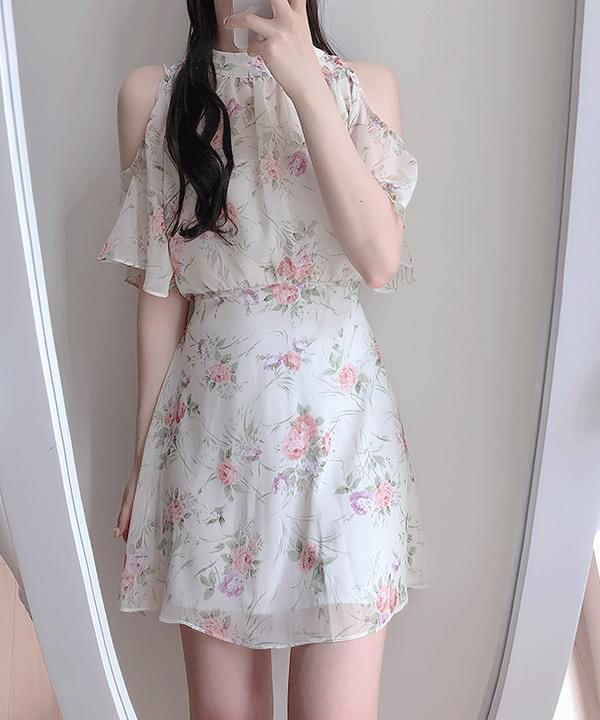 Barbie Flower Off Shoulder Dress