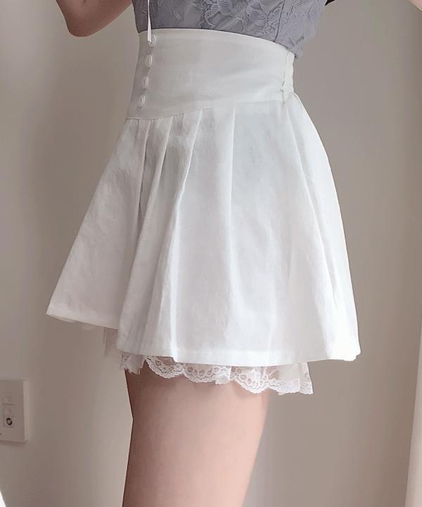 ♥코발트 버튼 스커트팬츠(아이,블루,블랙)