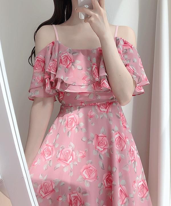 Lumir Flower Shoulder Dress