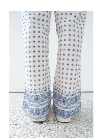 paisley slit pants
