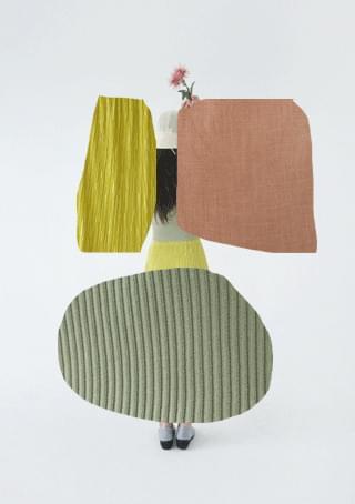 gloss pleats midi skirt