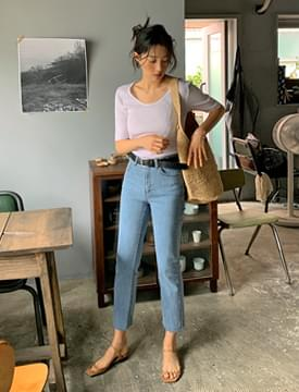 Cut Slim Date Denim Pants