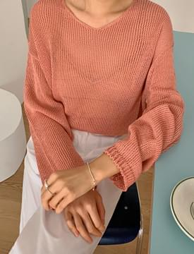 Cozy Net V-Neck Knit