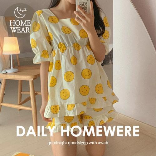 Smile Pajama Set