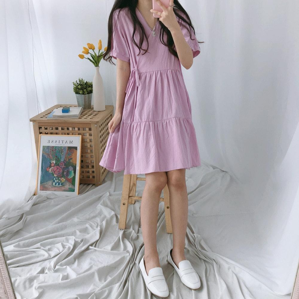 Wrap Cancan Mini Dress