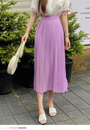 Vivid Color Talk Talk Pleated Skirt