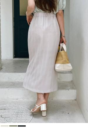 Line Good Front Long Skirt