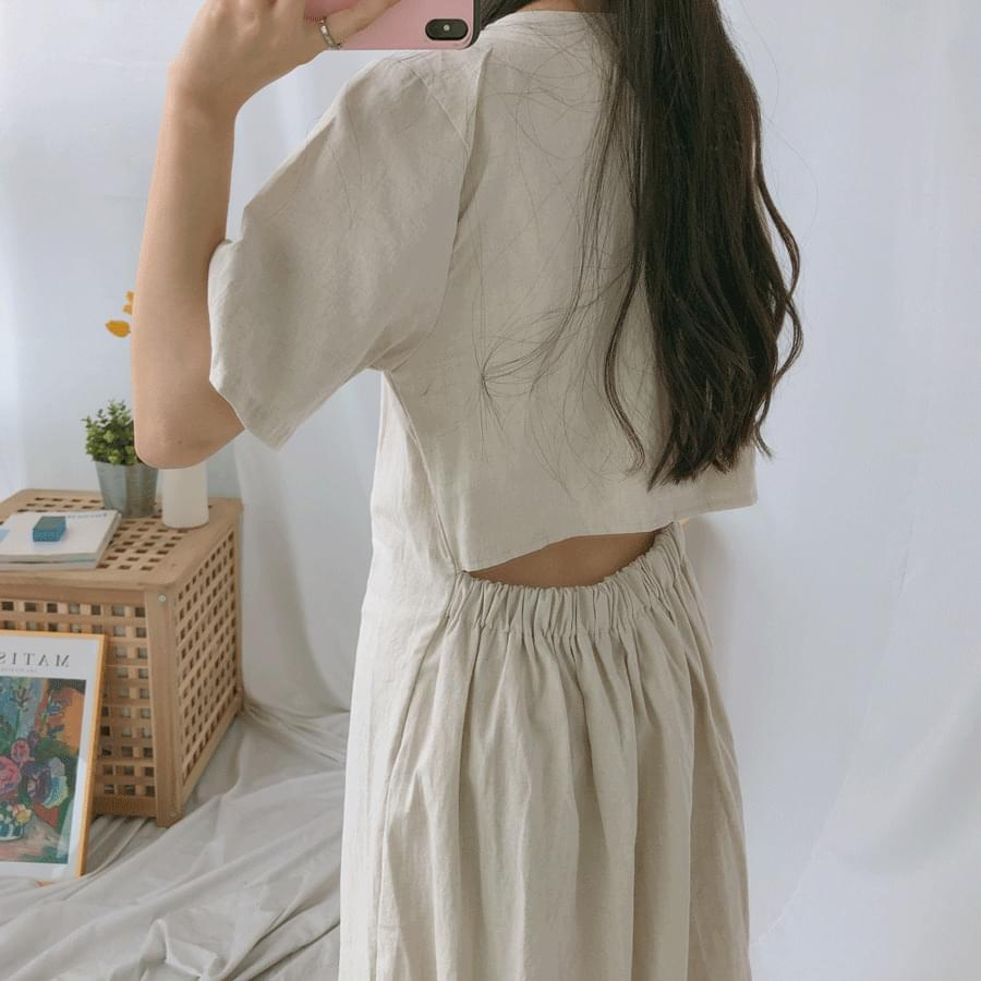 Slim back long dress