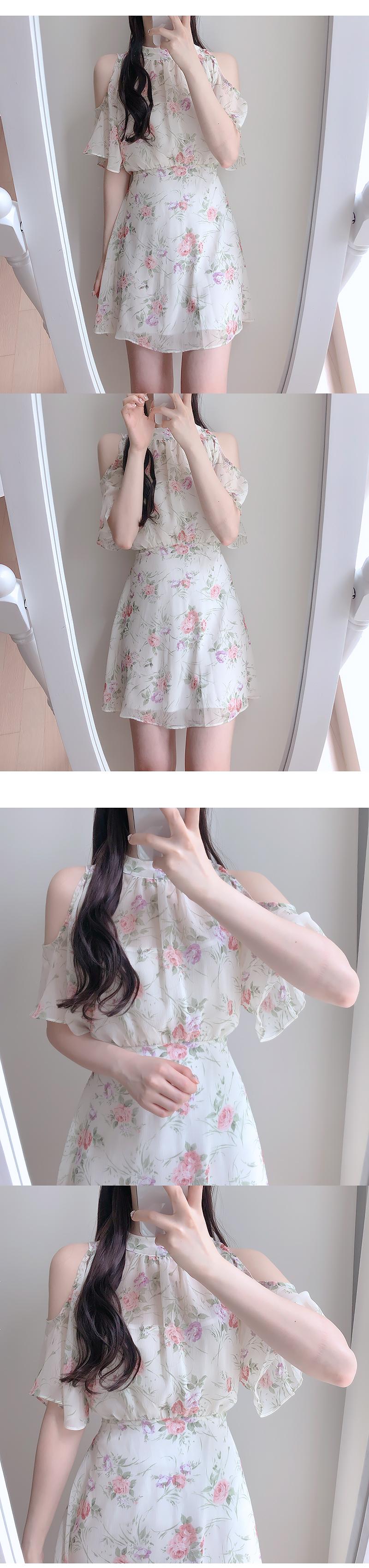 Barbie Flower Off Shoulder Dress