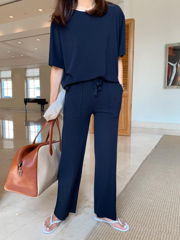 Cool Rayon Short Sleeve Tee + Pocket Pants Set