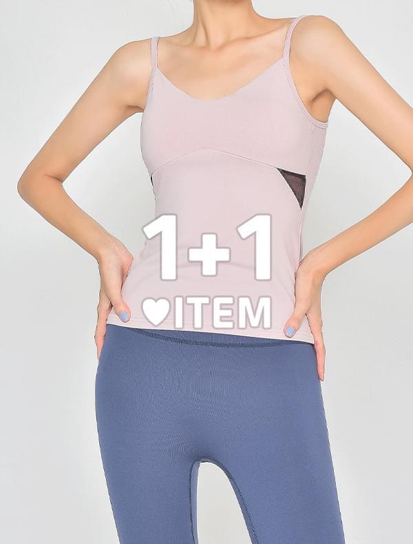 ♥1+1♥ 매쉬 슬랜더 탑 (5color)