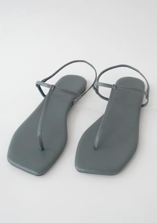 center thin line sandals