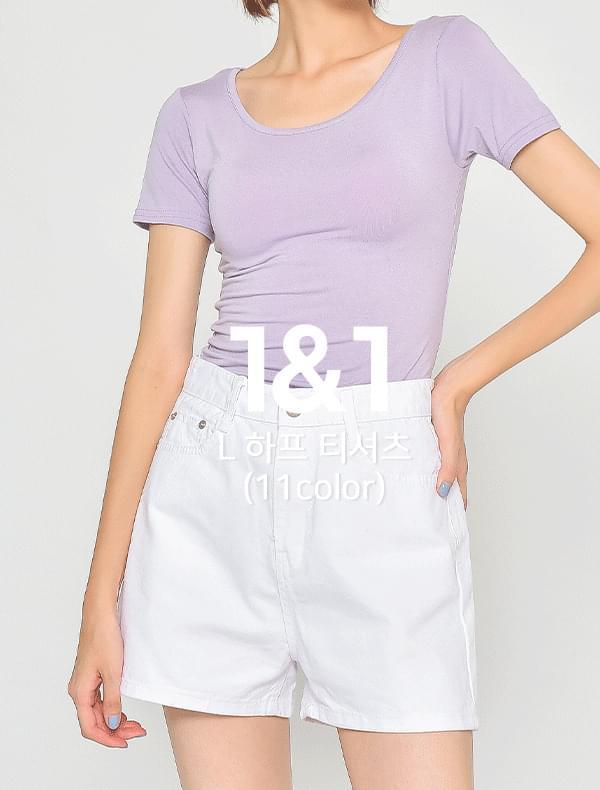 ♥1+1♥ 리터 하프 티셔츠 (11color)