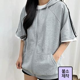 ♥Additional discount for July♥ Hooded short sleeve hoodies