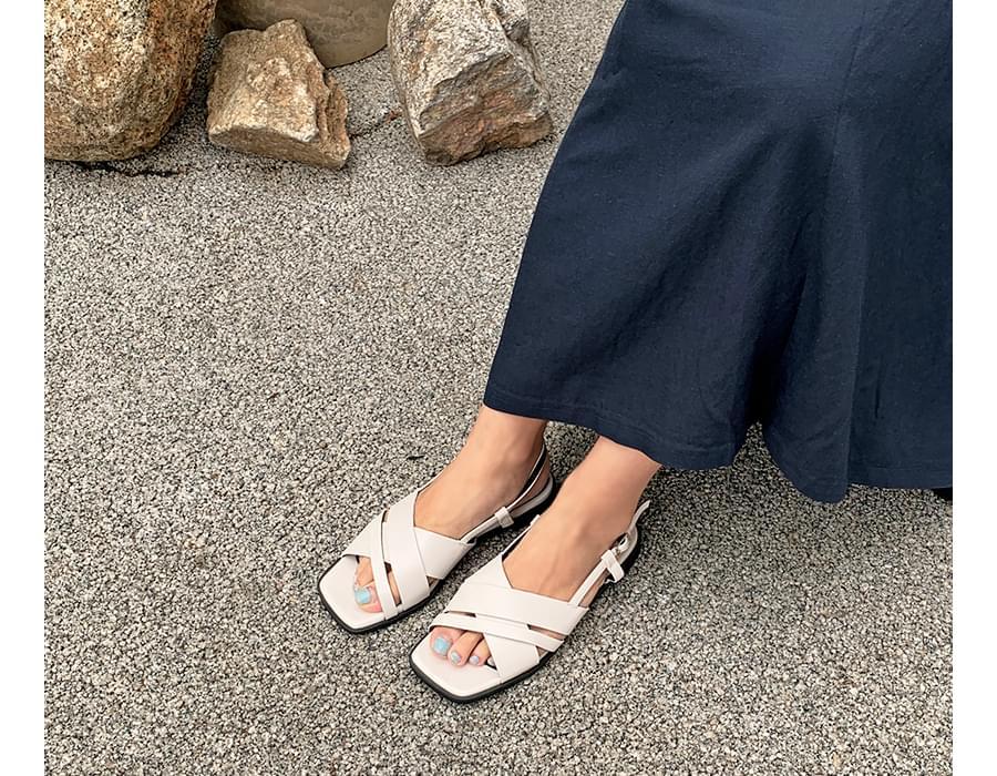 Sharp unbal strap sandal_C