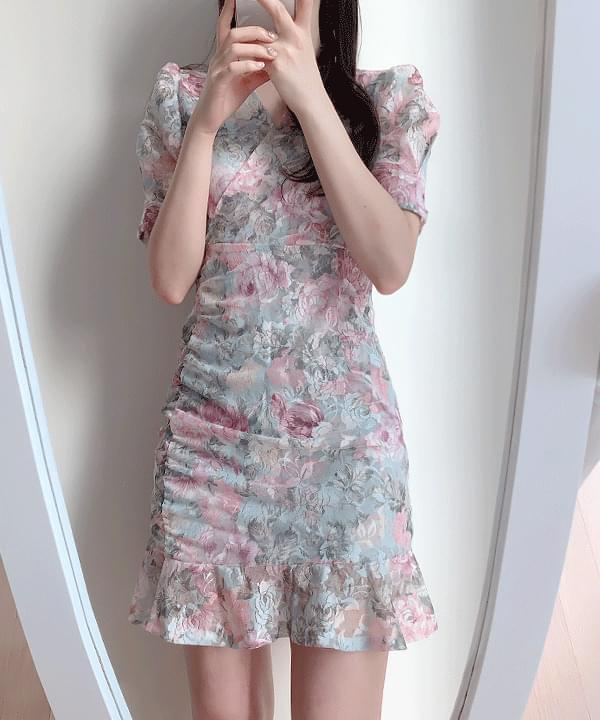 Yuha Jacquard Flower Dress