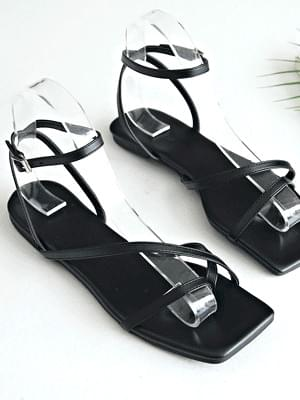 Ruet's unfooted strap sandals 1 cm