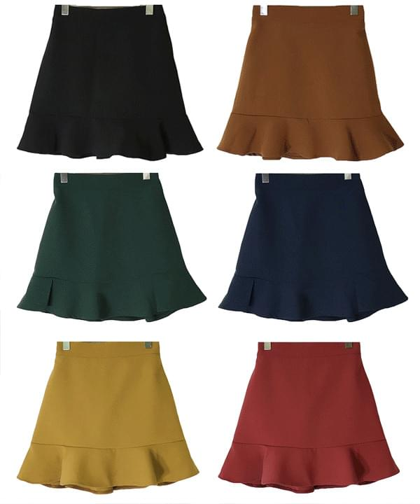 Breaking 15000 sheets ♥!Basic mini frill skirt