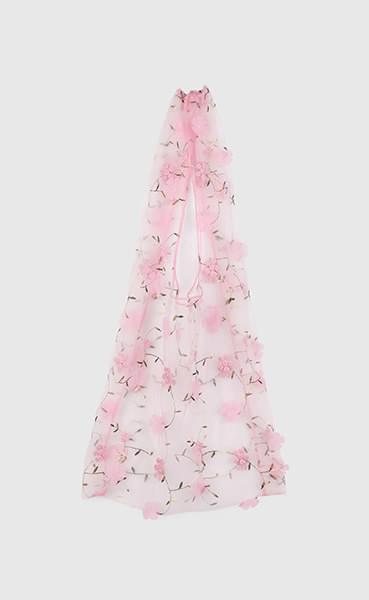 Flower see-through shoulder bag