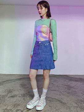 Wrinkle S Denim Skirt skirt