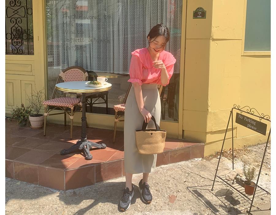 Picnic paper basket tote bag