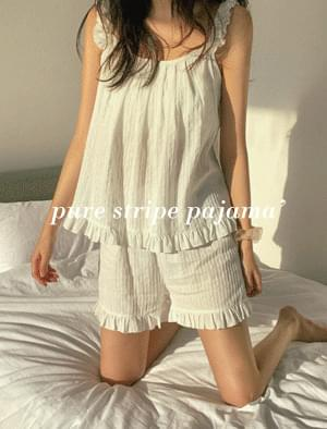 Pure Striped Pajama Set