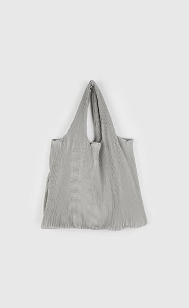 Pleated shopper shoulder bag