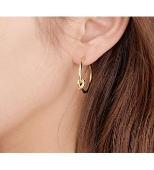 韓國空運 - Hera Twist Circle Earrings #84479 耳環