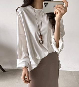 Two-tone wood long necklace #86031