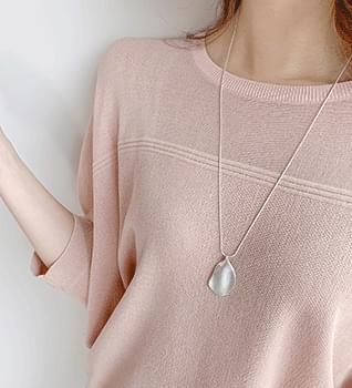 韓國空運 - Matte geometry circular long necklace #85268 項鍊