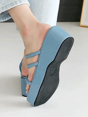Diver flat-heeled slippers 5cm