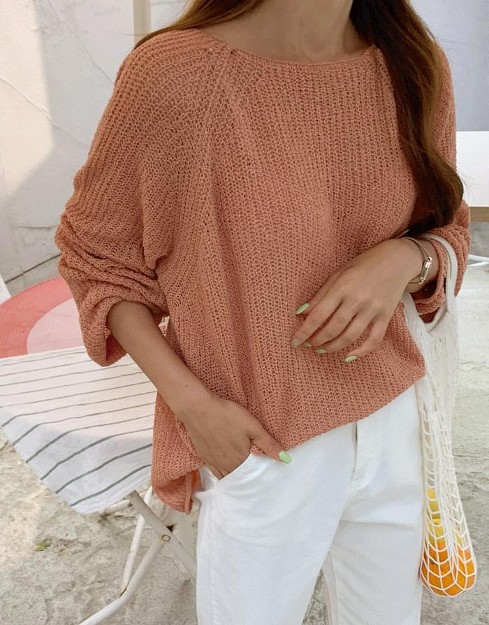 Summer Book Lips Neck Loose Fit Knit
