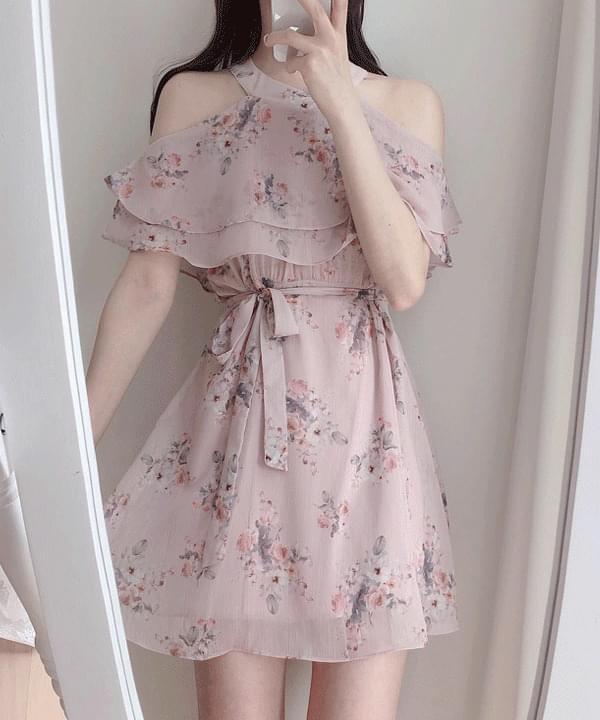 Hina Flower Off Shoulder Dress