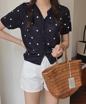 韓國空運 - Embossed embroidered cardigan 針織外套