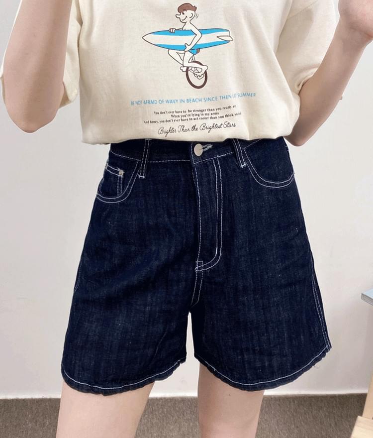 806 stitched half pants