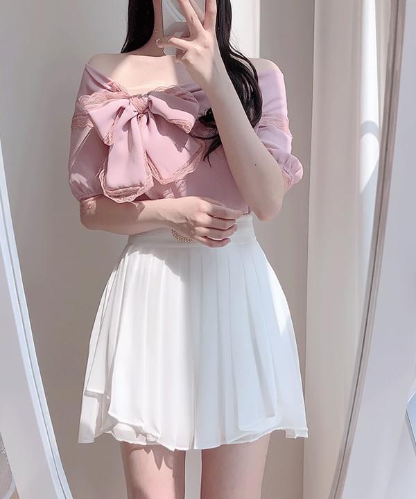 ♥Dior shoulder ribbon blouse