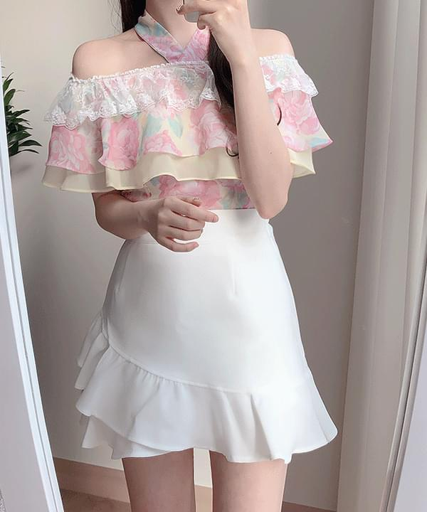 New Discount ♥ Butter Flower Halter Blouse