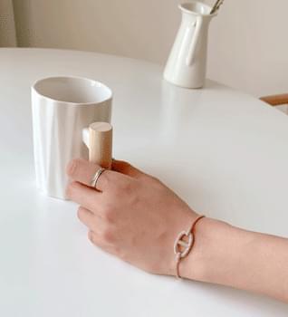 韓國空運 - Circle cubic bracelet #86119 手鐲