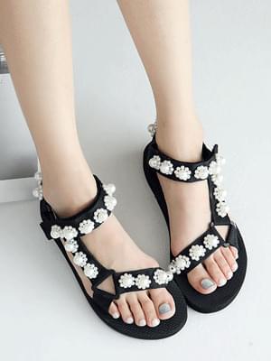 Jeanne Velcro Slingback Sandals 2cm