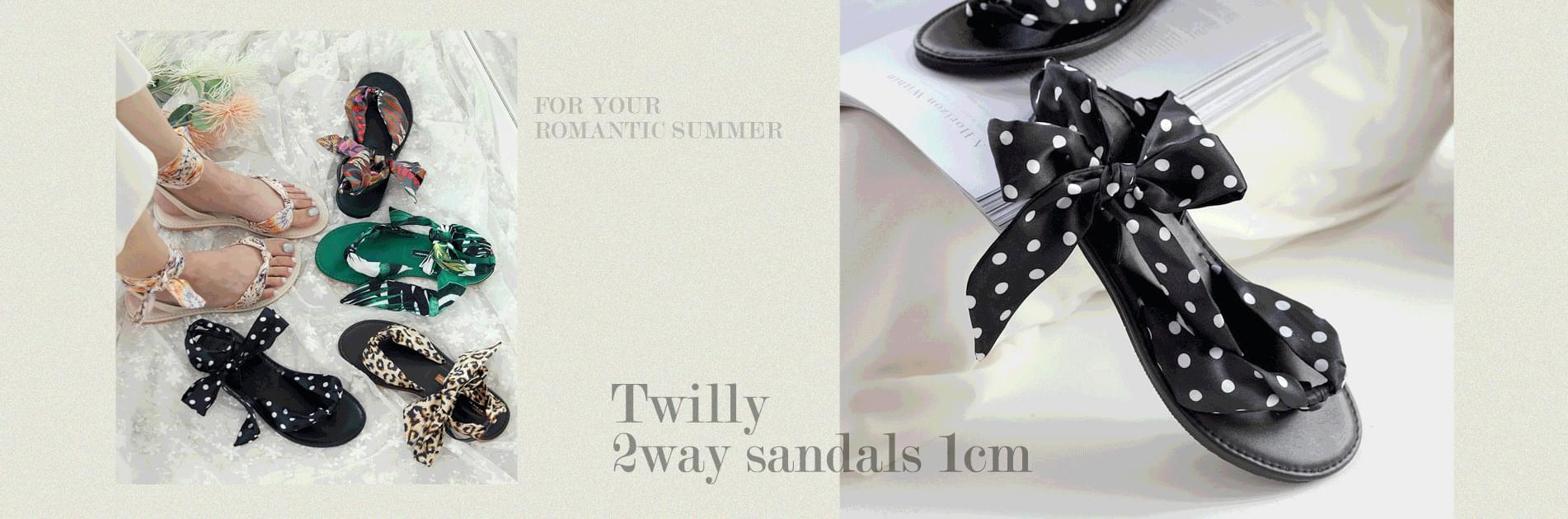 Twilly 2 way sandals 1 cm
