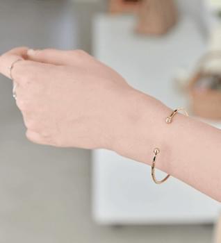 韓國空運 - C curl simple bangle bracelet #85308 手鐲