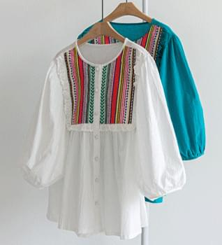 Ethnic Embroidered Blouse #47719