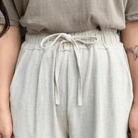 Marvel linen banding pants