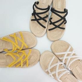 Line strap slippers
